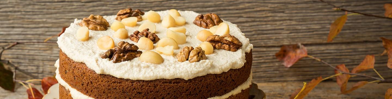 Provamel ricette dessert torta glassata alle noci di for Ricette dessert